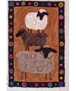 Farm Show Sheep Punchneedle chart embroidery Three Sheep Studio - $10.80
