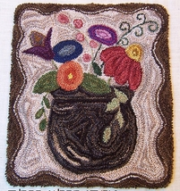 Meadow Flowers Punchneedle chart embroidery Three Sheep Studio - $10.80