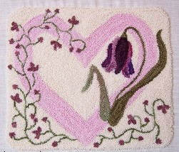 Flowers From The Heart Punchneedle chart embroidery Three Sheep Studio - $10.80