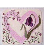 Flowers From The Heart Punchneedle chart embroi... - $10.80
