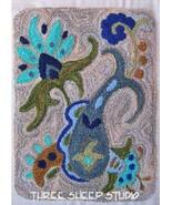 Seaside Fancy Punchneedle chart embroidery Three Sheep Studio - $10.80