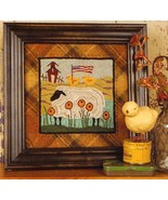 Two Chicks On The Lamb Punchneedle chart embroi... - $14.40