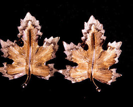 """Sarah Coventry """"Nature's Choice"""" 1960 Leaf Earrings - $9.95"""