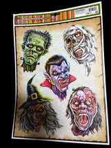 Haunted House Horror Props CREEPY DECAL CLING Halloween Decorations-MONS... - $4.92
