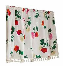 24station [C] Retro Kitchen Tier Curtain Cafe Curtain Short Window Curtain - $23.63