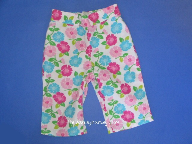 NWT Gymboree TENNIS MATCH Floral Pants Sz 12-18 Mths