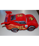 Lightning McQueen Cars Disney Movie Stuffed Car Pillow Plush Authentic P... - $24.95