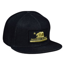 California Republic Snapback Hat by LET'S BE IRIE - Black and Gold, Denim - £15.43 GBP