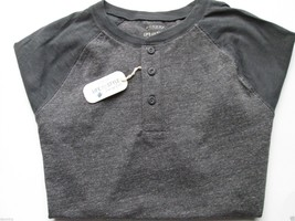 Sonoma Contrast Shoulder Crewneck Short Sleeve Men Henley T-Shirt Charco... - $12.76