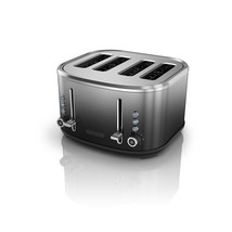 BLACK+DECKER 4-Slice Extra-Wide Slot Toaster, Stainless Steel, Ombré Fin... - $80.06