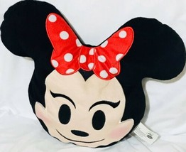 Disney Minnie Mouse Emoji 10'' Smiling Expressions Pillow Plush - $16.90