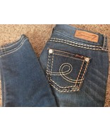 Seven7 Jeans Women's Skinny Slim Size 8 Distressed 33 W 29 L  Dark Blue EUC - $15.83