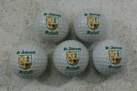 St. Andrews Scotland Golf Courses 5 Golf Balls Never Played With Great C... - $69.29