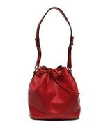 Auth Louis Vuitton EPI Shoulder Bag Red Leather PVC Noe Drawstring Logo ... - $517.77