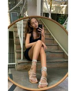 NEW Urban Outfitters UO Marley Suede Gladiator Sandals in Blue sz 8 - $23.76