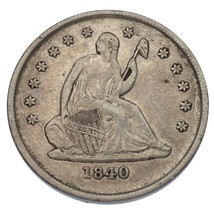 1840-O No Drapery Liberty Seated Quarter 25C (Very Fine, VF Condition) - $212.85