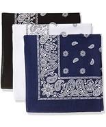 Levi's 3 Pack Printed Bandana Set-Black/White/Navy, One Size - $20.37