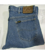 Vintage Lee Riders 36 X 31 Mens Blue Jeans Heavy Cotton Denim Made USA 3... - $29.99