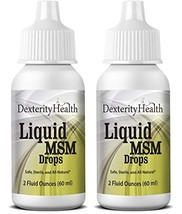 Dexterity Health Liquid MSM Eye Drops 2-Pack of 2 oz. Squeeze-Top Bottles, 100%