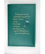 Alcoholics Anonymous AA Big Book Cover Serenity Green Medallion Chip Holder - $17.96