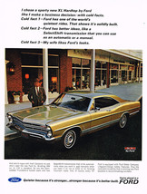 Vintage 1967 Magazine Ad Ford I Chose Sporty XL Hardtop Due To All Cold Facts - $5.93