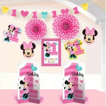 Minnie Mouse Fun to Be One 10 Pc Room Decorating Kit 1st Birthday Party - $15.24