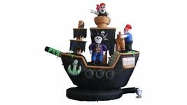 Halloween Inflatable Pirate Ship Skeleton Crews Air Blown Blowup LED Dec... - €110,15 EUR