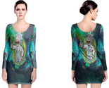 Rick and morty peace among worlds long sleeve bodycon dress thumb155 crop