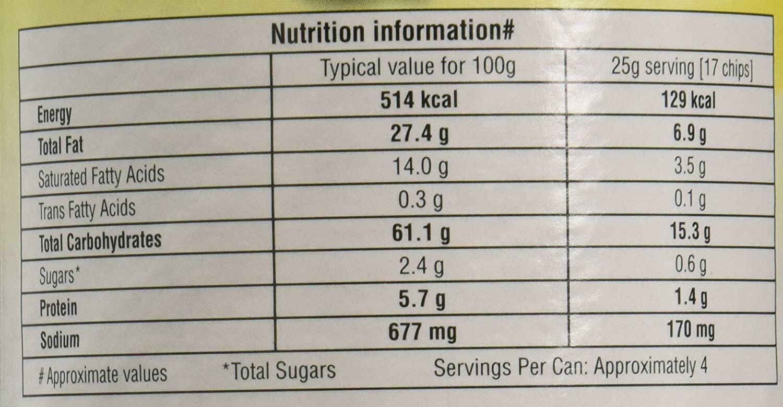 Pringles Pizza Flavour 110 grams 3.8 oz Vegetarian Potato Crisps Chips Wafers