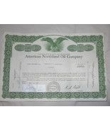Capital Stock Certificate 50 Shares of American Northland Oil Co. 1967 ea - $17.76