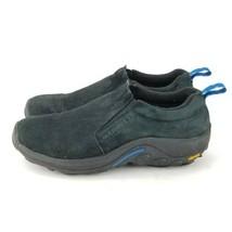 Merrell Moc Loafer Black Suede Slip On Shoes Mens Size 10.5 US/EU 44.5 - $36.10