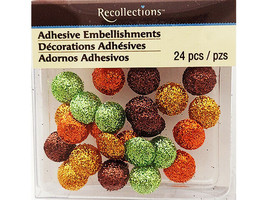 Recollections Round Glittered Adhesive Embellishments #187955
