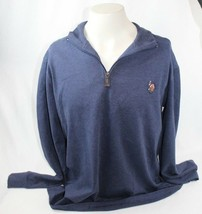 Men's Polo by Ralph Lauren M Navy Blue Pullover Shirt with Zipper NEW WI... - $33.65