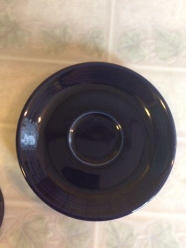 Fiesta ware Cobalt Blue Cup and Saucer Demitasse Espresso Cup Homer Laughlin  image 3