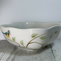 Pier 1 One Imports Sqaure Cereal Bowl Robin - $12.38