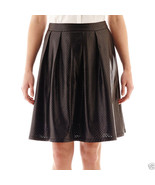 Worthington Pleated Faux-Leather Black Skirt Size 6, 8 New Msrp $40.00 - $14.99
