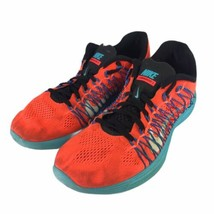 Nike Flywire Lunarlon Womens US 8 Athletic Shoes Running 554675-804 Oran... - $27.73
