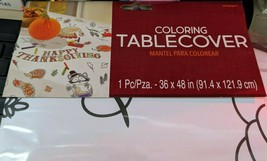 3- Amscan, Happy Thanksgiving Table Cover, Color-in (570147) - $24.74