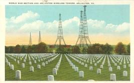 World War Section and Arlington Wireless Towers, Arlington, Va, 1920s Po... - $4.25
