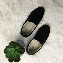 Ugg Black Suede Slip On Shoes Athletic Womens Sz 8 Comfy Walking  - $1.242,11 MXN