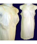 Vintage 40s Barbizon full slip lace inserts old nylon size XL chest 44 - $16.50