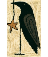 Starring Mr.Crow Punchneedle chart embroidery Threads That Bind - $7.20