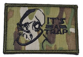 It's a Trap Admiral Ackbar 2x3 Military Patch / Morale Velcro Patch - Multicam - $4.89