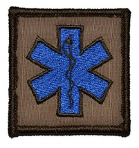 Star of Life 2x2 Military Patch / Morale Velcro Patch - Coyote Brown - $4.89