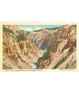 Yellowstone Canyon from Brink of Falls, 1929 unused linen Postcard  - $3.99