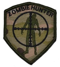 Zombie Hunter Scope 3x2.5 Shield Military Patch / Morale Velcro Patch - ... - $4.89