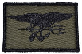 SEAL Trident 2x3 Military Patch / Morale Velcro Patch - Olive Drab - $4.89