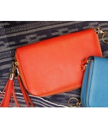 "Concealed Carry Bright Red Leather ''Compact Carrie"" Handbag Gun Purse - $159.99"