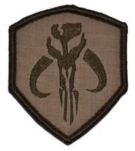 Mandalorian Bantha Skull Mercenary 3x2.5 Shield Military Patch / Morale Velcr... - $4.89