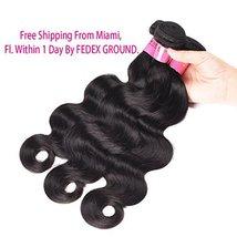Body Wave Weave Brazilian Virgin Hair Bundles with Closure Unprocessed Brazilian image 3